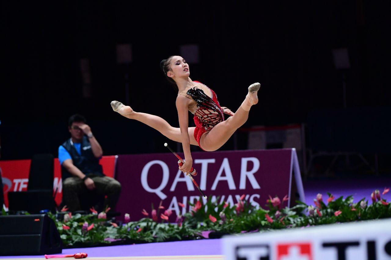 Казахстан завоевал еще три медали по художественной гимнастике в Венгрии