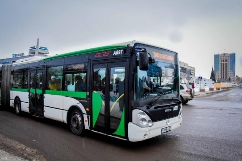 Движение общественного транспорта в столице Казахстана будет приостановлено на неделю