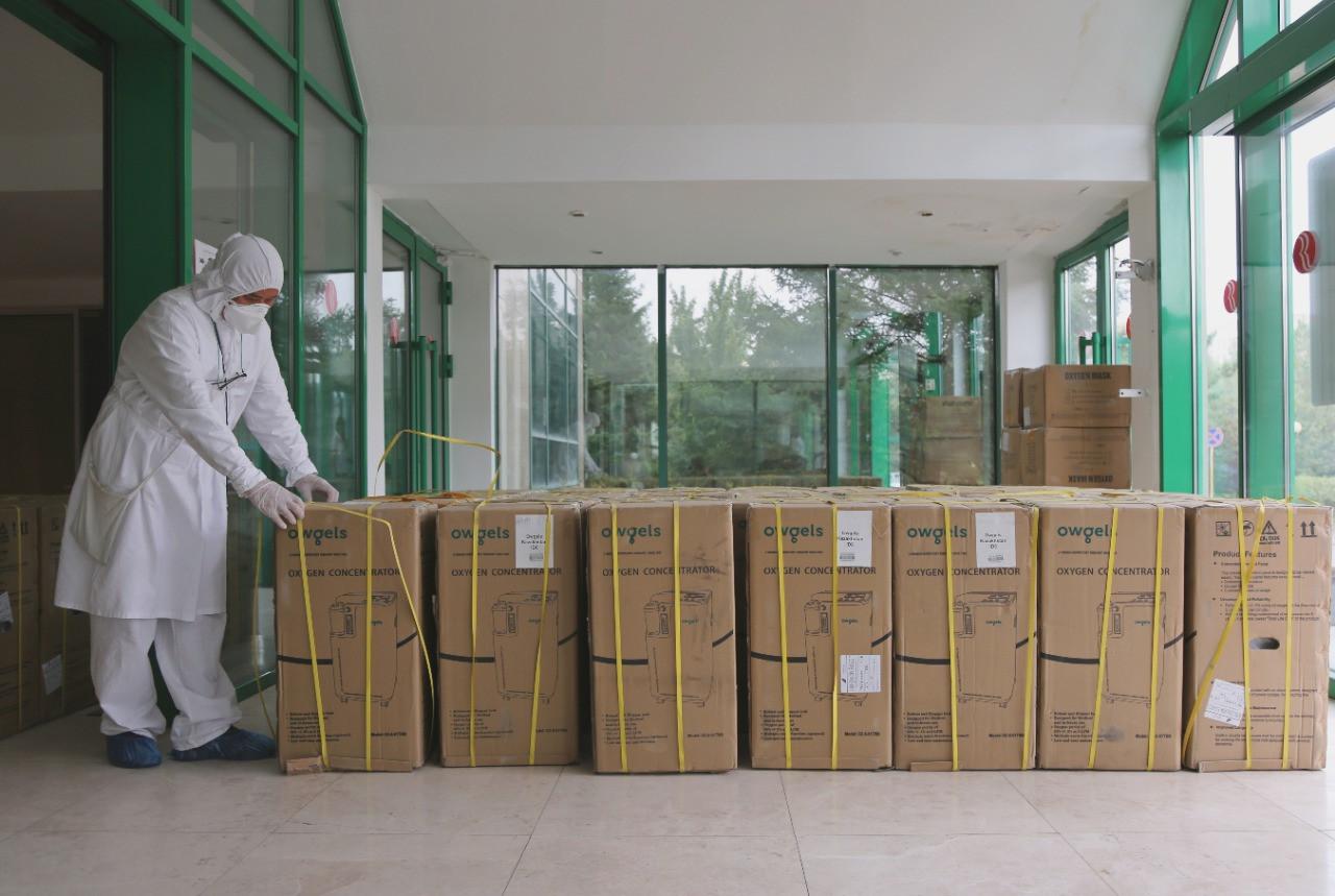 #Вирусдобра: в больницы Мангистауской области доставлены кислородные концентраторы