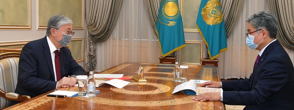 Касым-Жомарт Токаев принял председателя правления АО «Институт географии и водной безопасности»