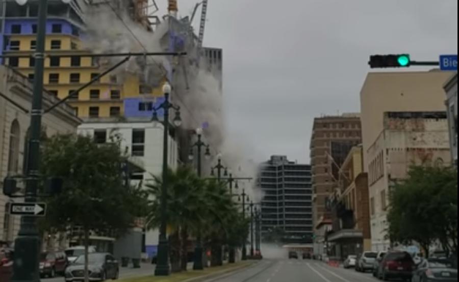 В Новом Орлеане при обрушении строящейся гостиницы погиб человек