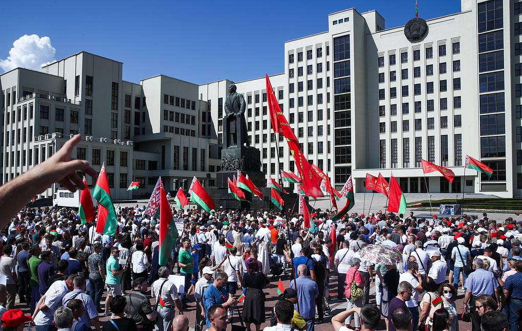 В Минске проходит митинг в поддержку Лукашенко