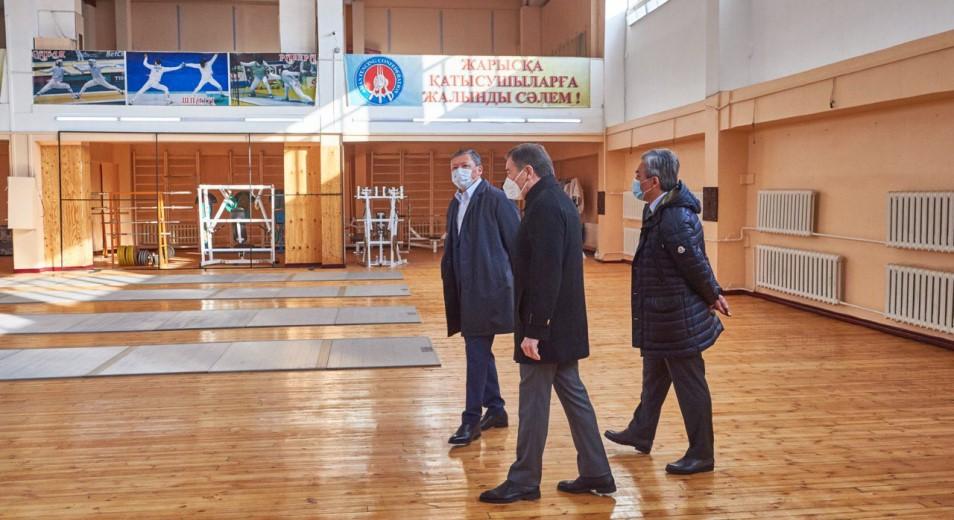 Глава НОК РК ознакомился с условиями подготовки олимпийского резерва