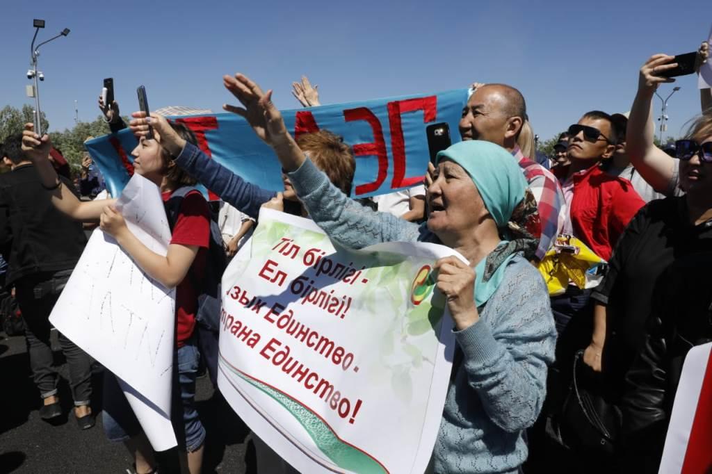 В Нур-Султане на мирный митинг пришли несколько десятков человек
