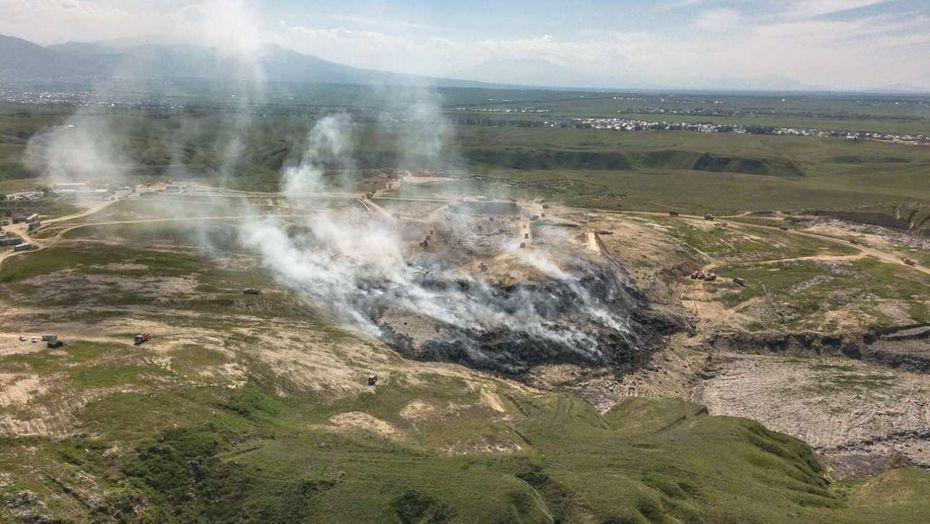 На месте горевшего под Алматы полигона бытовых отходов появится парк