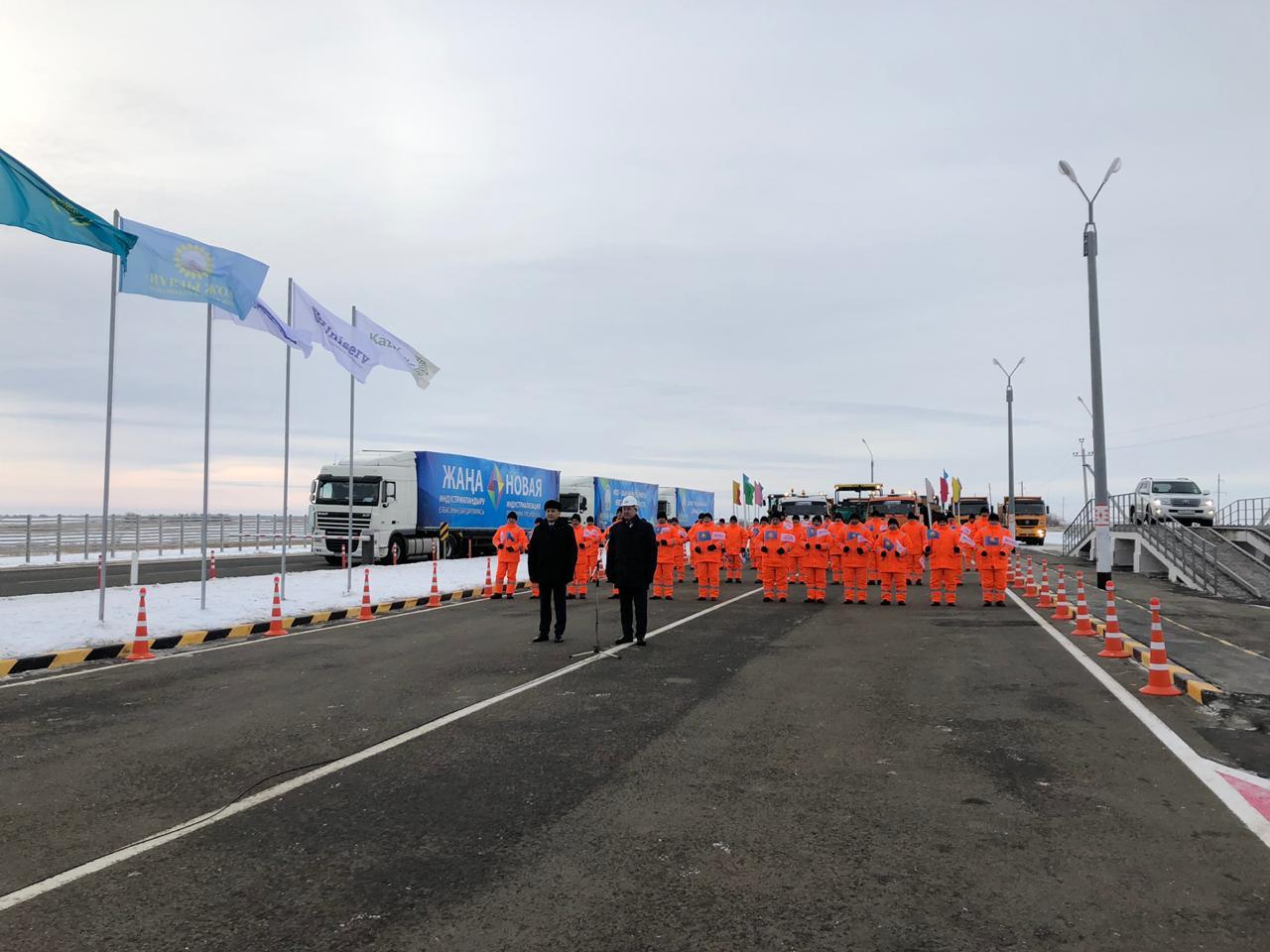 Запущено движение по автодороге «Уральск-Таскала-граница РФ»