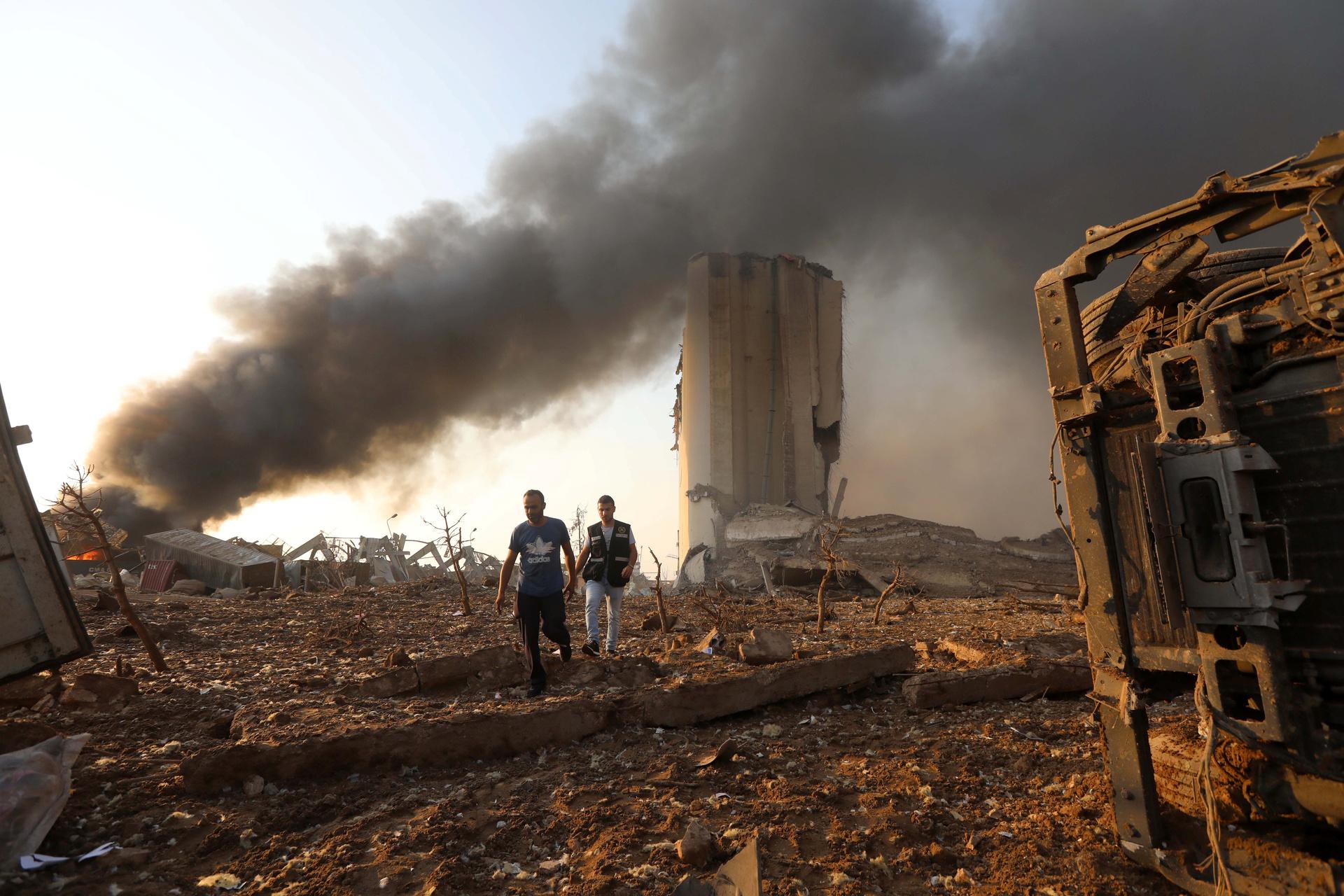 В результате взрывов в порту Бейрута имеются жертвы среди иностранцев