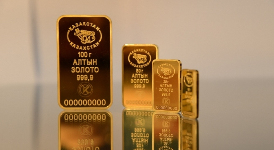 Нацбанк РК решил продавать часть золота из резервов, Золото, Золотые слитки, Нацбанк РК