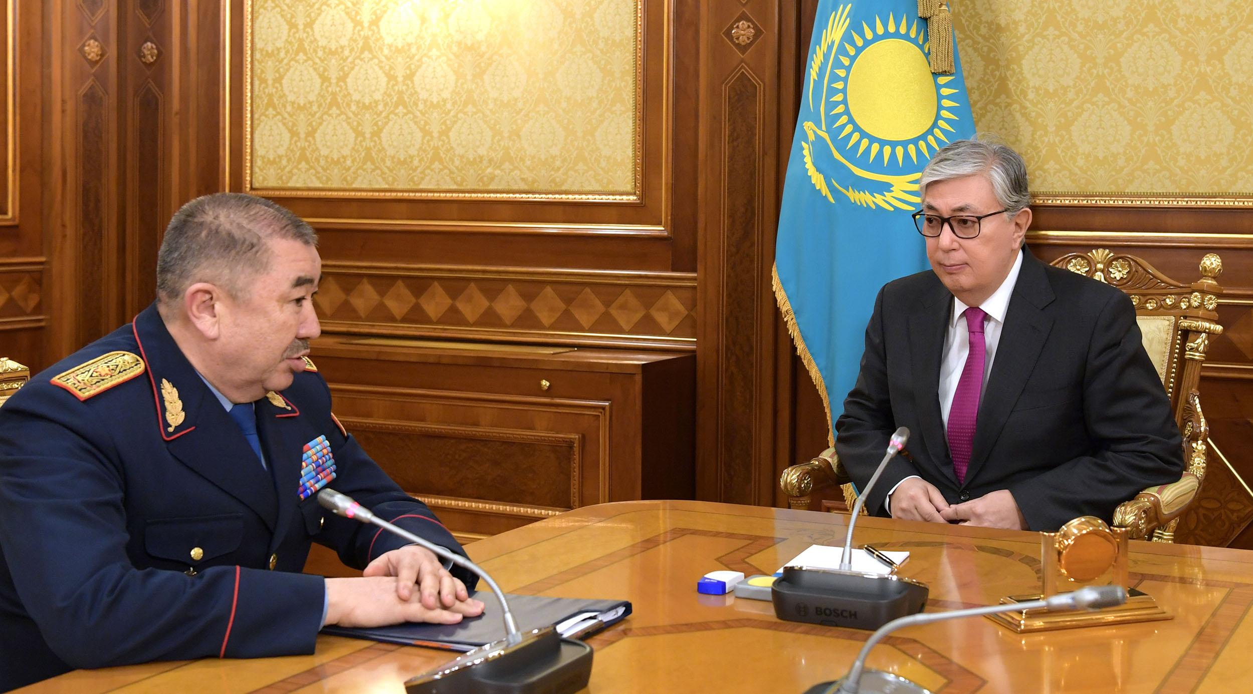 Касым-Жомарт Токаев заслушал отчеты глав Минобороны и МВД Казахстана