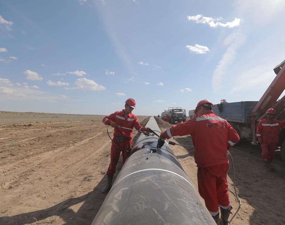 Строительство газопровода «Сарыарка» идет по графику