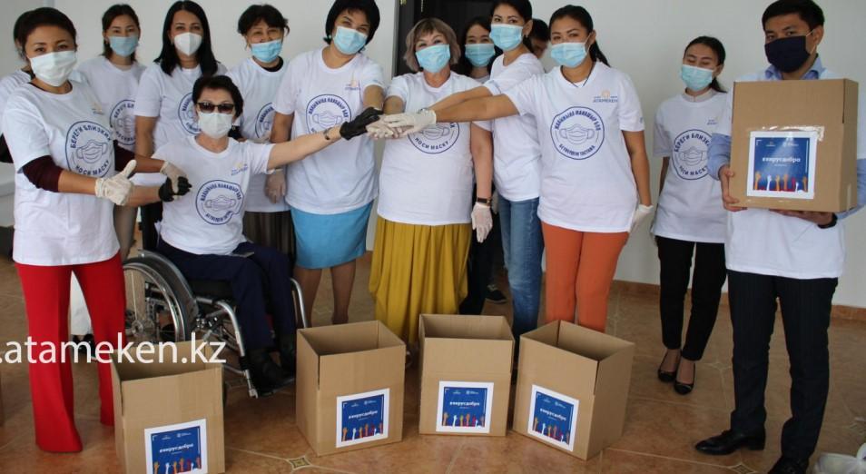 #Вирусдобра в Актобе: 50 продуктовых коробок, наборов из антисептиков и лекарств получили семьи нуждающихся