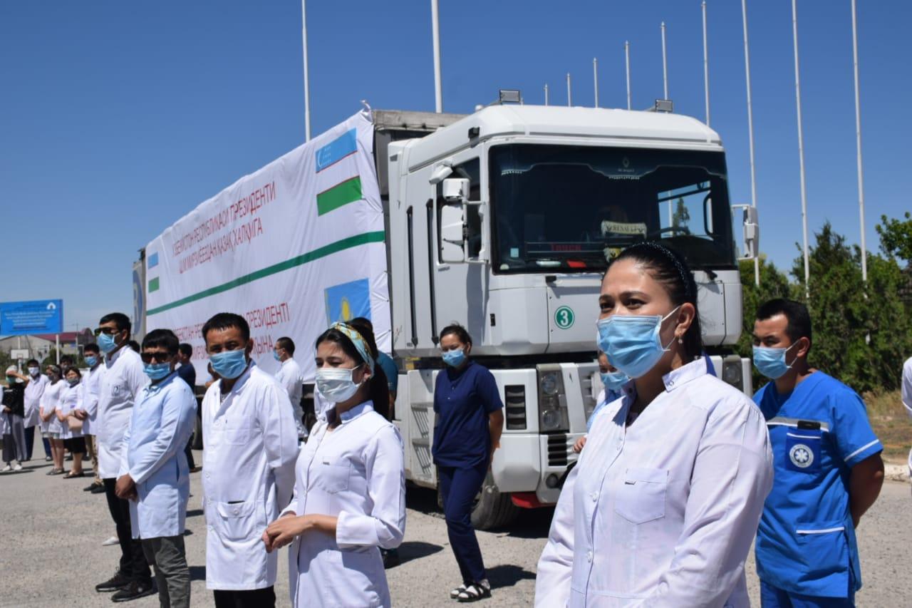 В Туркестан прибыла гуманитарная помощь из Узбекистана