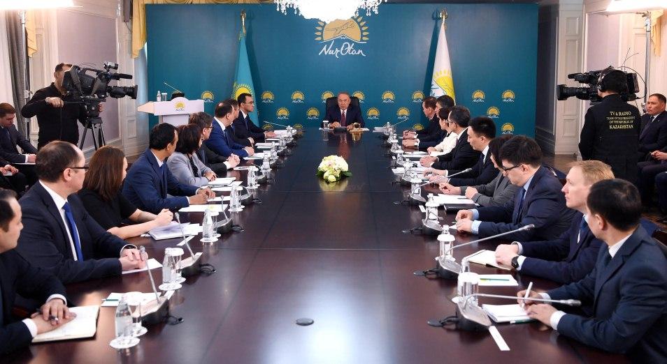 Нурсултан Назарбаев призвал Nur Otan принять активное участие в избирательной кампании, выборы, Президентские выборы, выборы в Казахстане 2019, Nur Otan, Нурсултан Назарбаев, предвыборная кампания