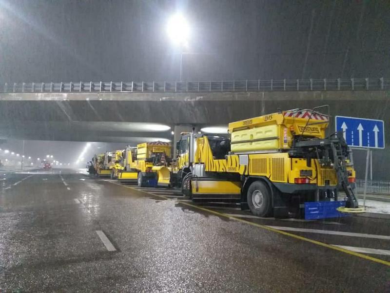Семь сантиметров снега выпало в Алматы за ночь