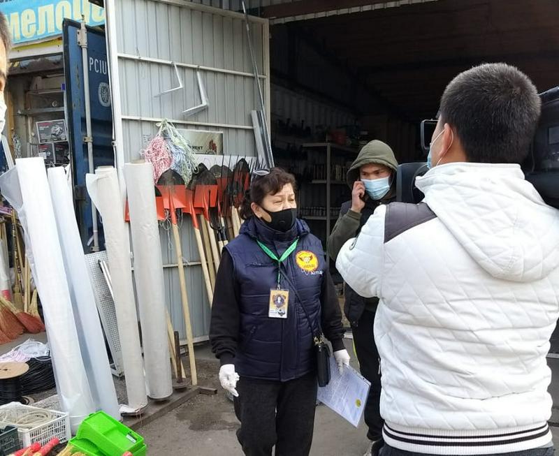 На рынках, в магазинах и кафе Алматинской области выявили нарушения карантина
