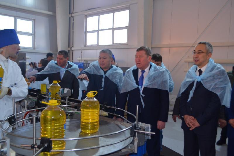 В Акмолинской области открыли новый маслозавод