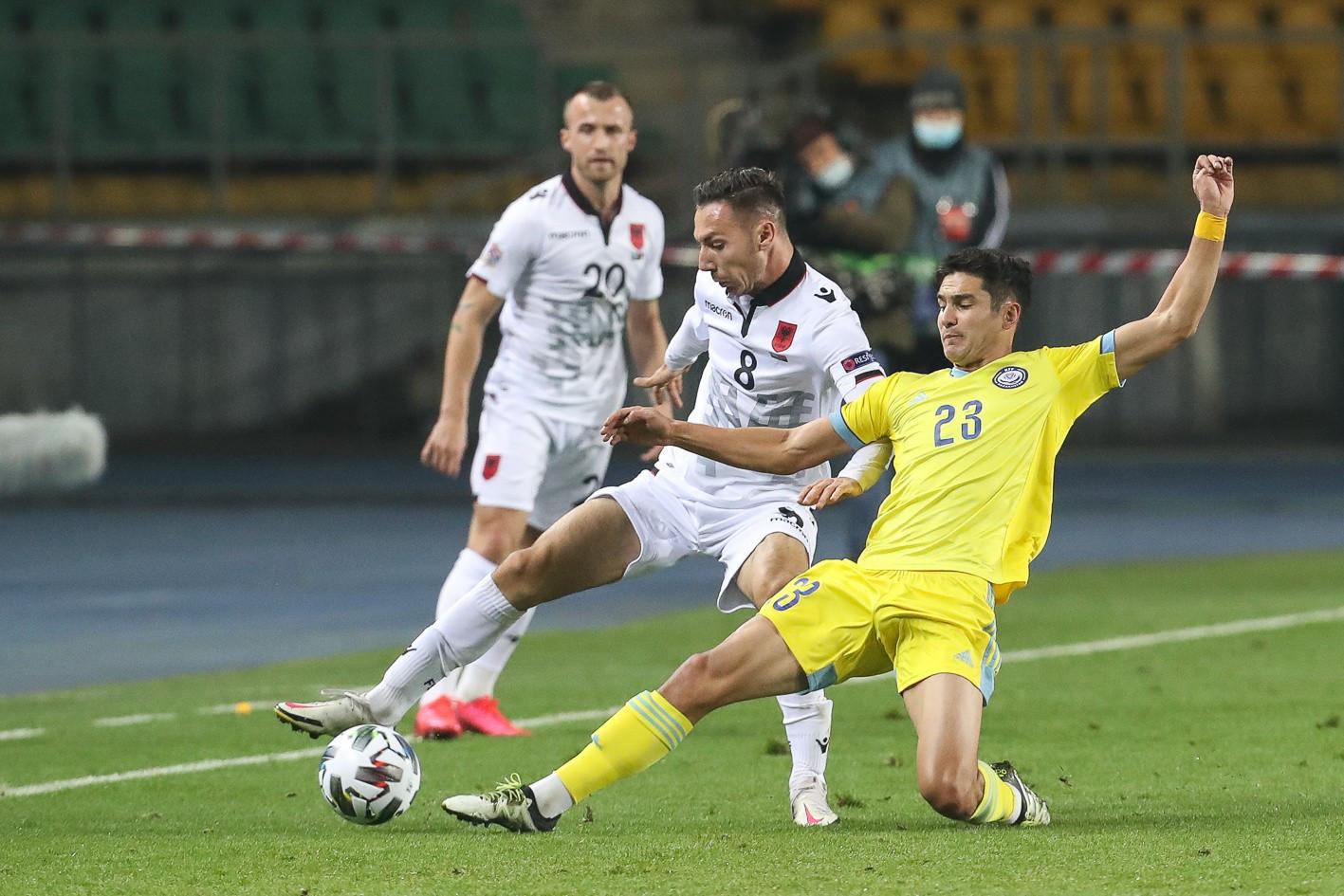 Лига наций. Казахстан сыграл вничью с Албанией