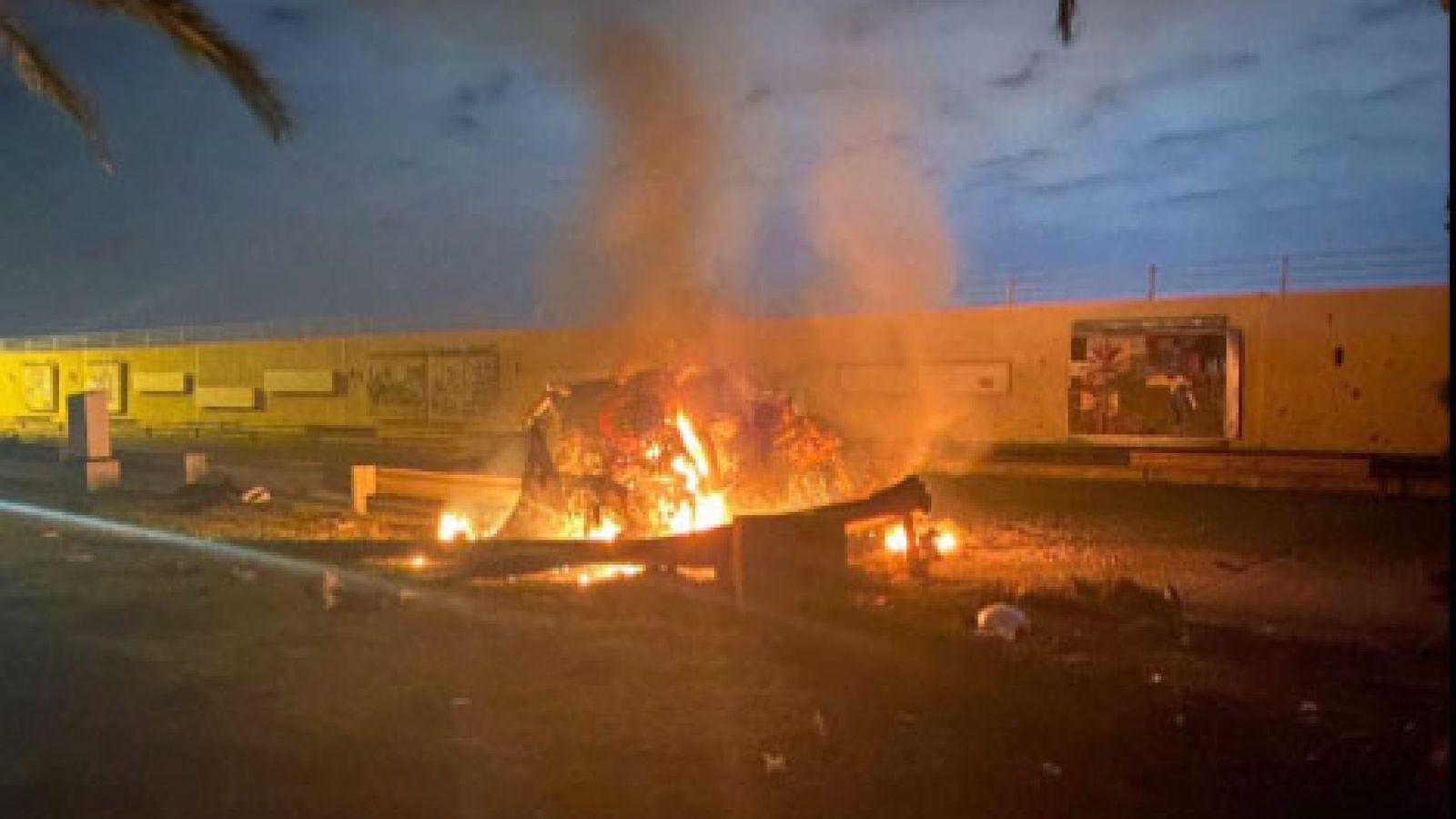 Район багдадского аэропорта подвергся ракетному обстрелу