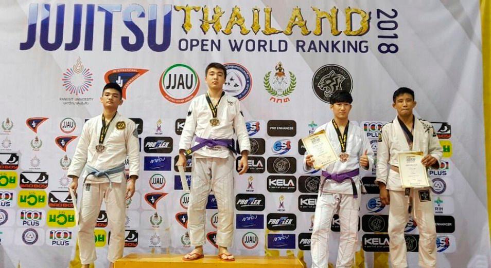 Казахстанские джитсеры вернулись домой из Таиланда с медалями