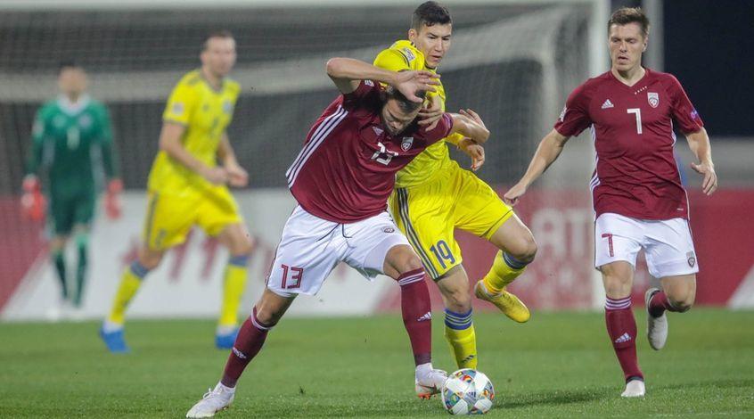 Футболисты сборной Казахстана сыграли вничью с Латвией
