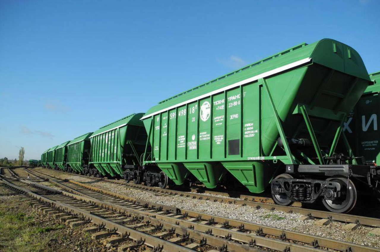Экспорт зерна по железной дороге составил около 7 млн тонн в январе-октябре