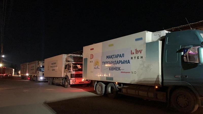 Партия Nur Otan направила мактааральцам более 400 тонн гуманитарной помощи
