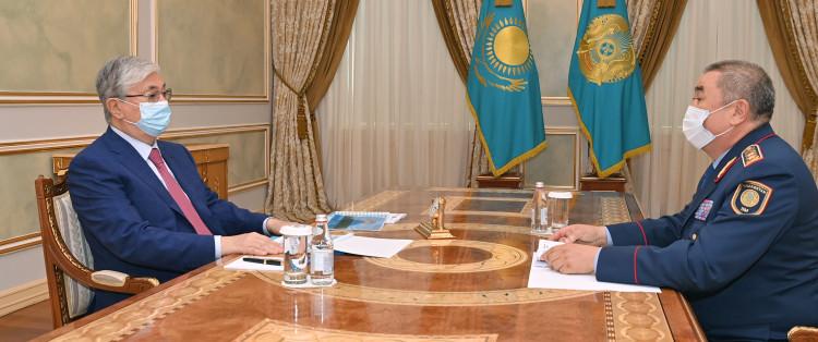 Глава МВД РК доложил президенту о криминогенной ситуации в стране