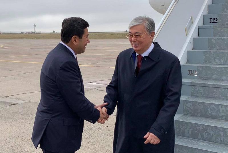 Касым-Жомарт Токаев прибыл с рабочим визитом в Карагандинскую область