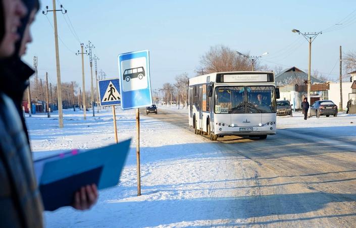 Табысын азырқанған автобус жүргізушілері жұмысқа шығудан бас тартып жатыр