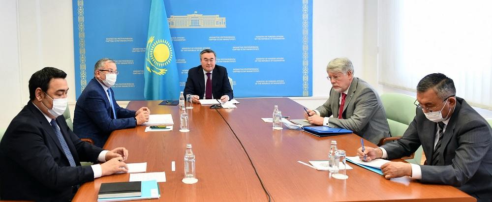 Главы МИД РК и РФ обсудили вопросы кооперации по линии СНГ, ЕАЭС, ОДКБ, ШОС и ООН