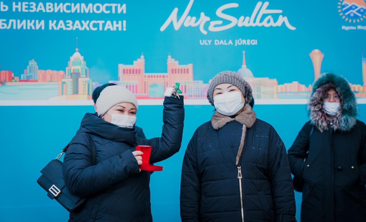 Фельдшеры, учителя, медсестры получили квартиры в Нур-Султане