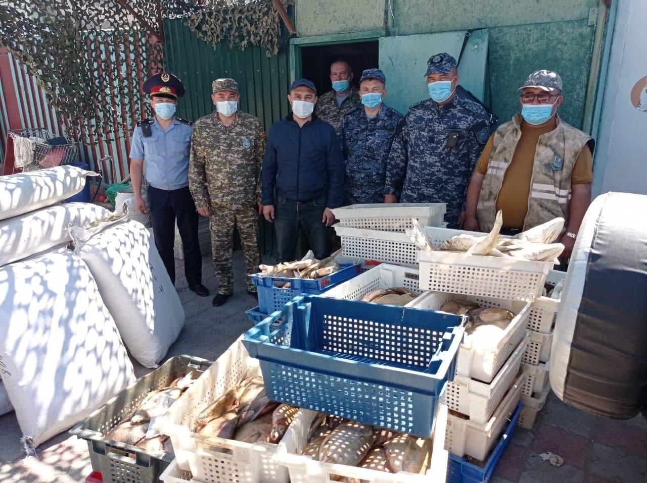 Более 500 кг рыбы изъяли у браконьеров в Капшагае