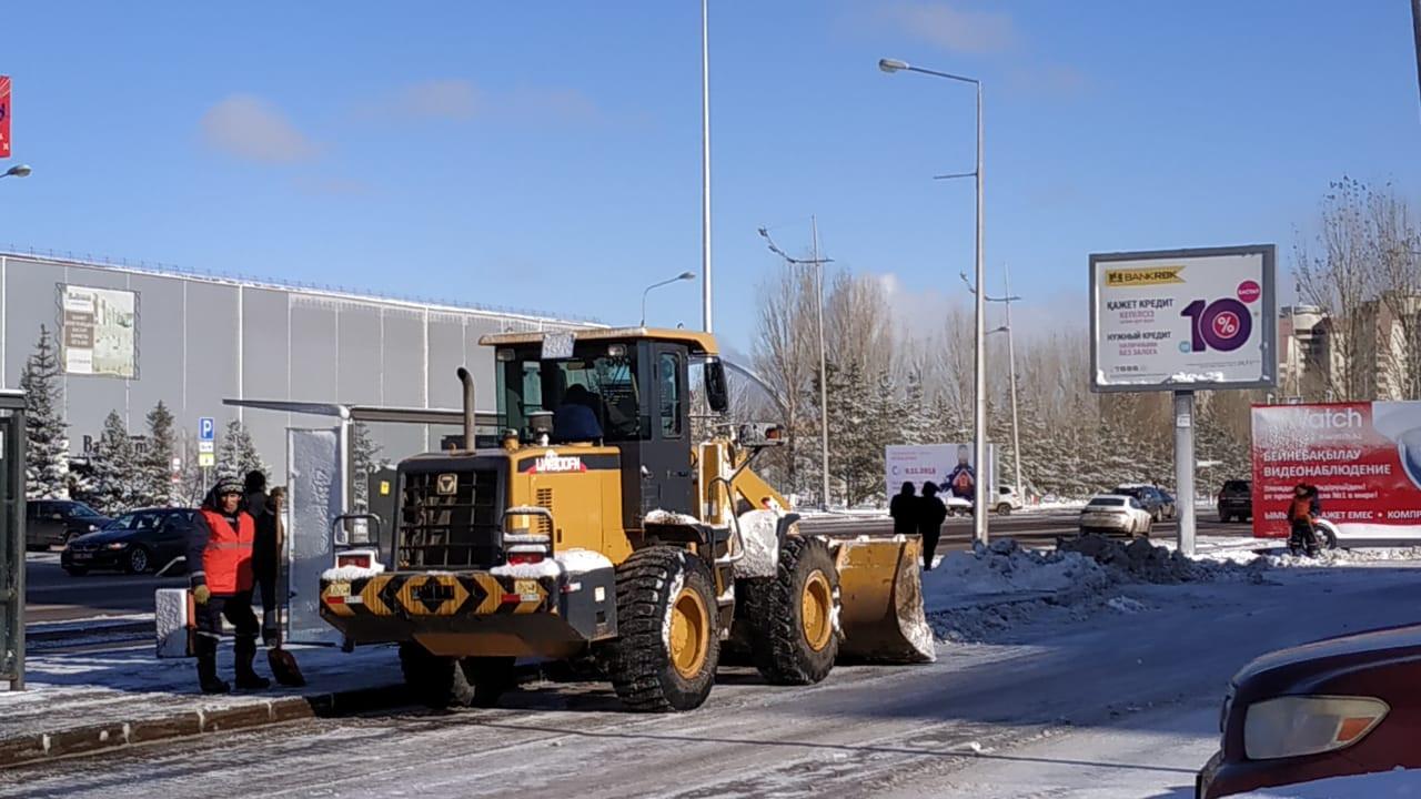 Астанадан 40 мыңнан аса текше метр қар шығарылды , Астана, қар шығару, iKomek