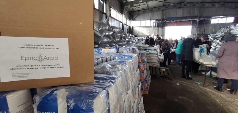 32 тонны гуманитарного груза для нуждающихся жителей Нур-Султана предоставил СПК «Ертiс Агро»
