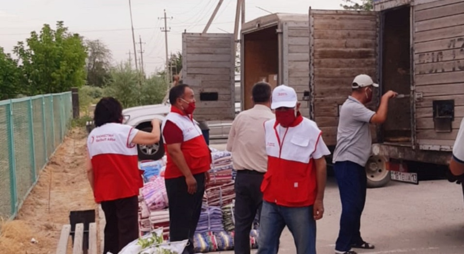 Красный Полумесяц РК завершил гуманитарную операцию в Мактааральском районе