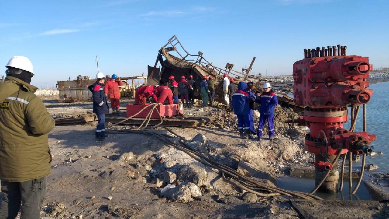 Выброс воды и газа произошел снова на месторождении Каламкас