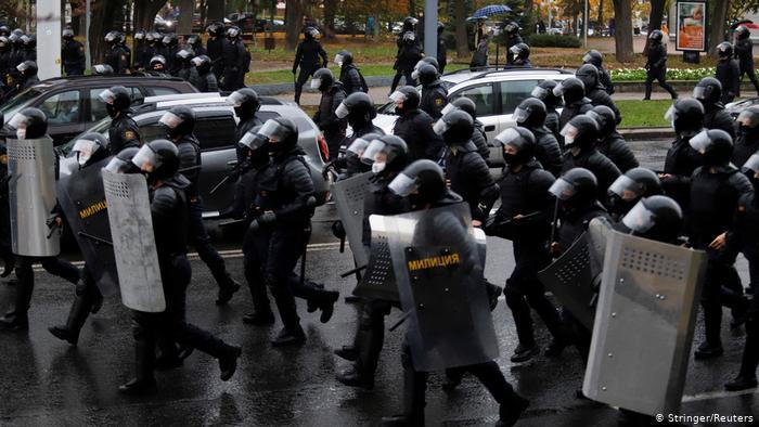 Белорусская милиция применила спецсредства против участников акции протеста в Минске