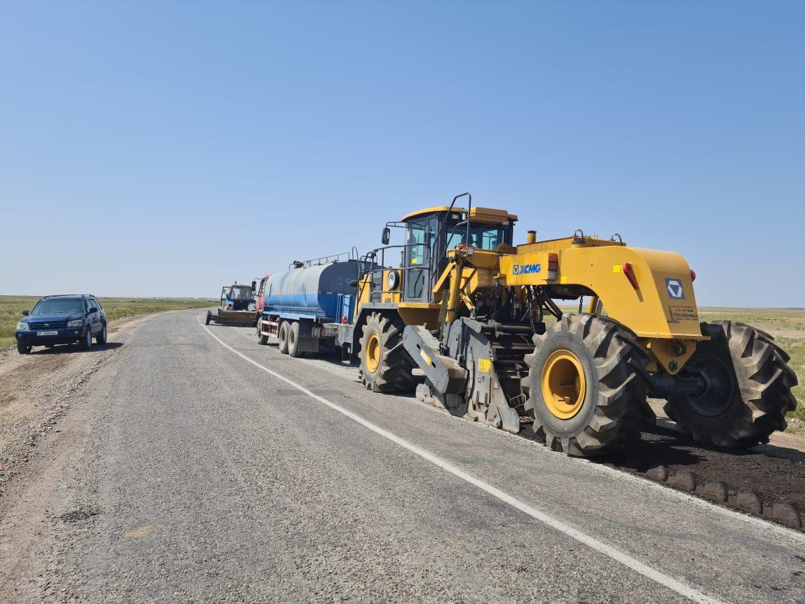 В Жамбылской области отремонтировано 120 км дорог
