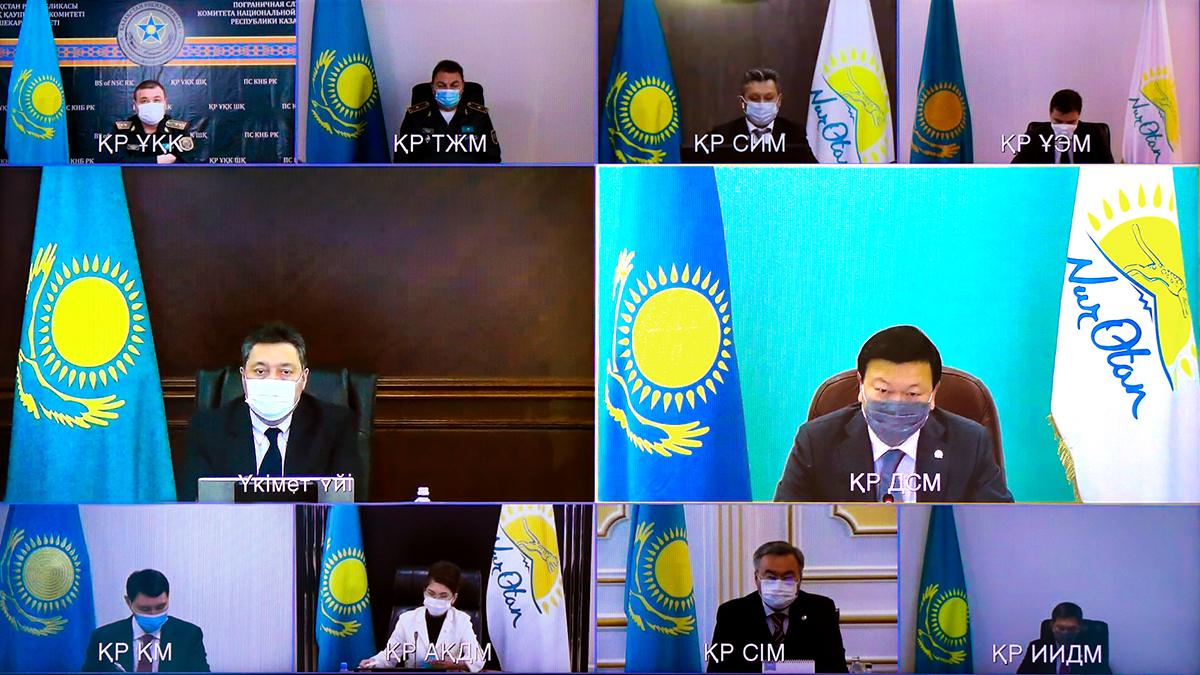 Аскар Мамин провел заседание МВК по COVID-19