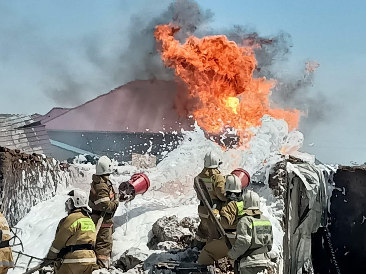 В Кызылорде из-за возгорания ГСМ пострадал человек