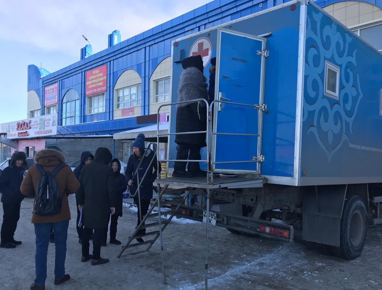 В Астане бесплатный медосмотр организован для жителей района Байконур