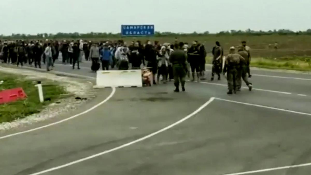 Росгвардия отрицает свое участие в стычке с мигрантами на границе с Казахстаном