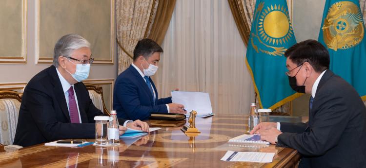 Касым-Жомарту Токаеву представили отчет о результатах деятельности КМГ