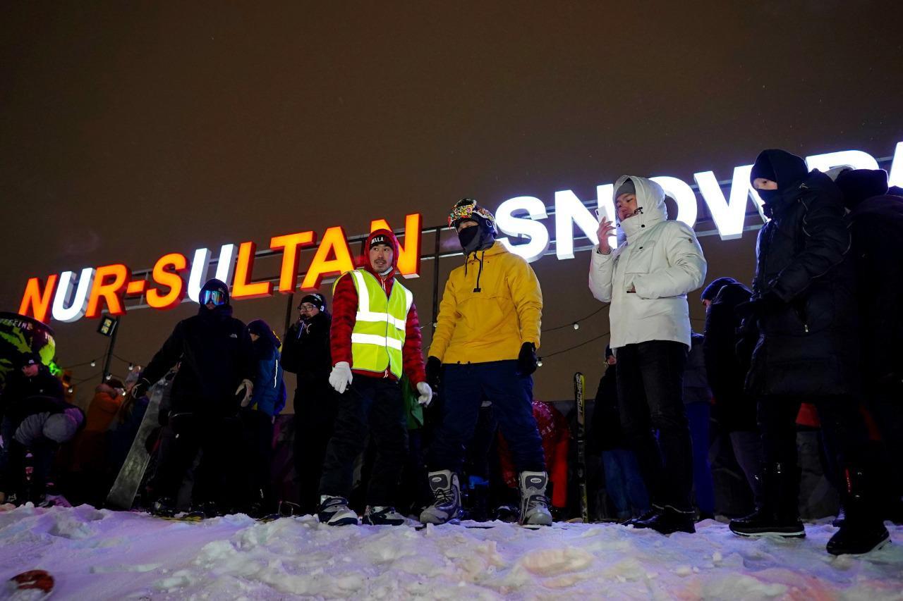 Nur-Sultan Snowpark: первая искусственная горка для сноубордистов появилась в столице