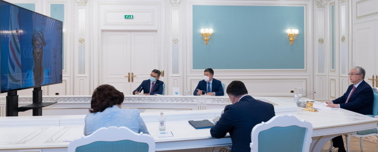 Касым-Жомарт Токаев провел встречу с генеральным директором ВТО