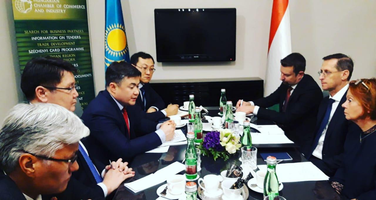 Тимур Сулейменов пригласил высокотехнологичные и сельскохозяйственные венгерские компании инвестировать в РК