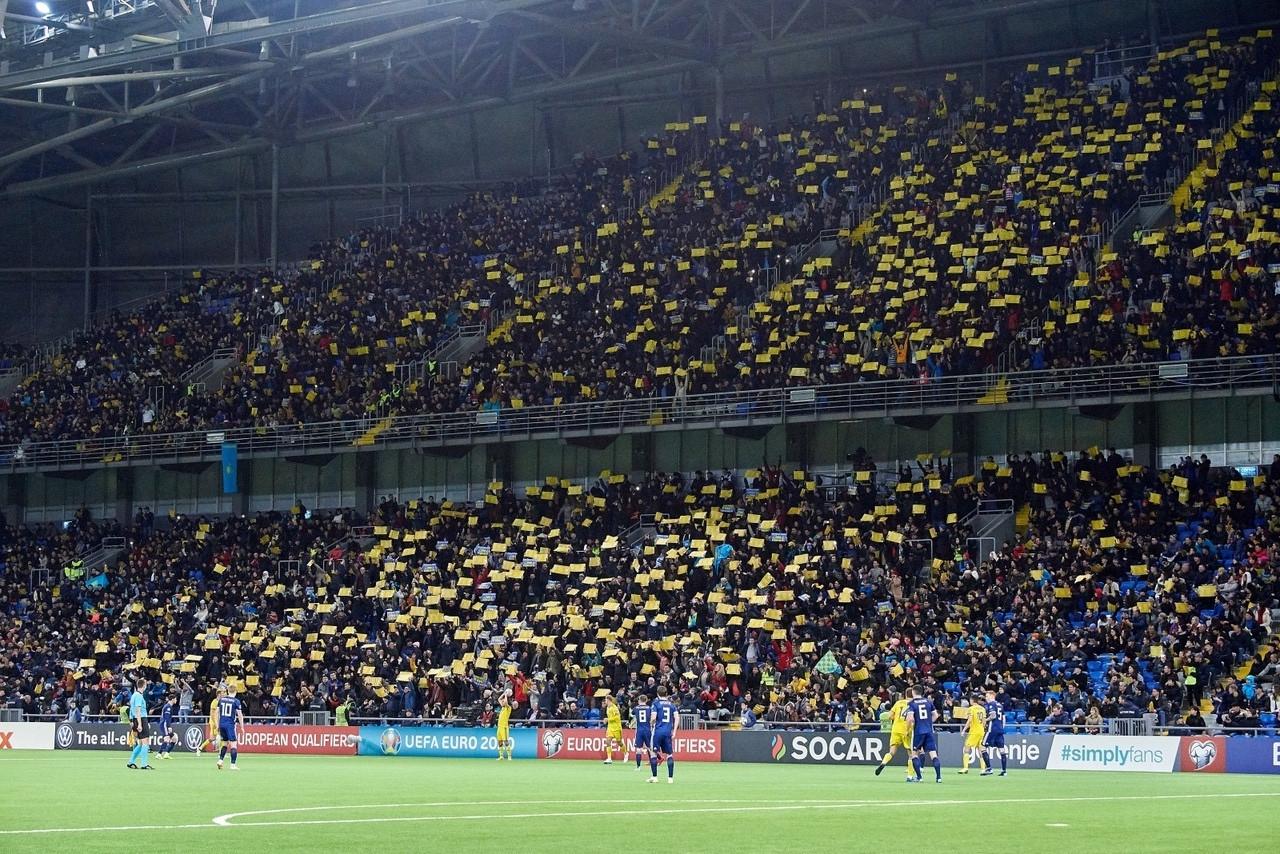 Матч отбора ЧМ-2022 Казахстан - Украина пройдет со зрителями