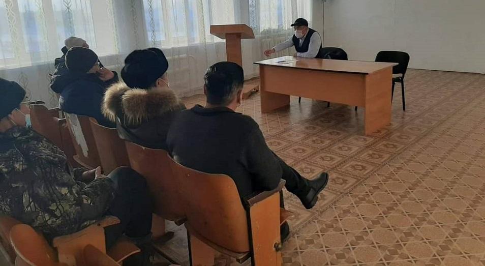 Агитационная работа партии Nur Otan в Тарбагатайском районе