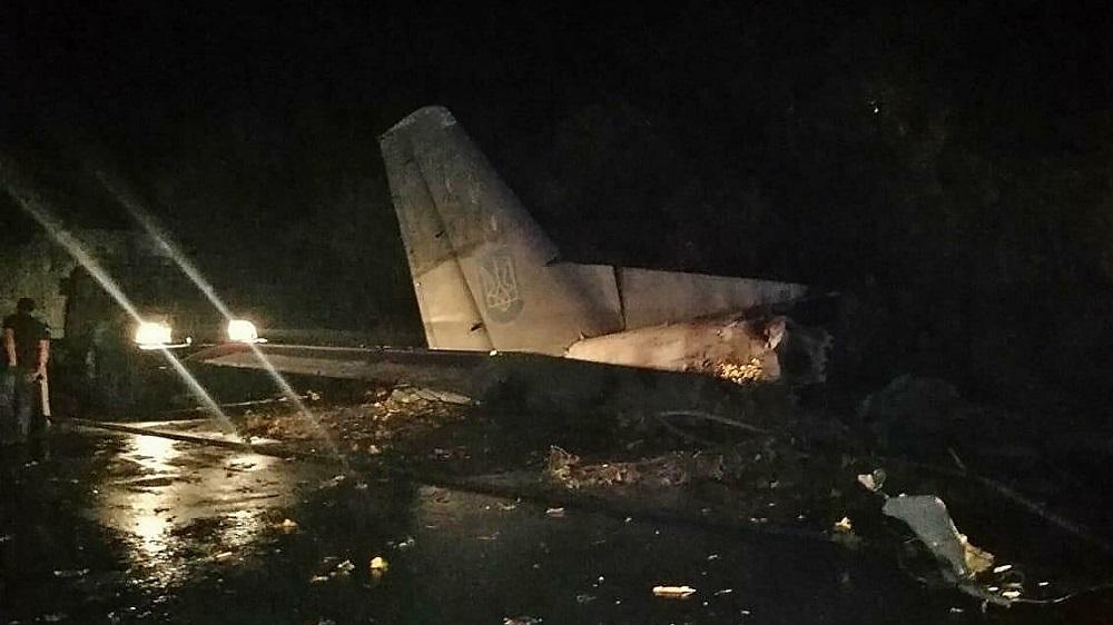 При крушении самолета на Украине погибли 25 человек