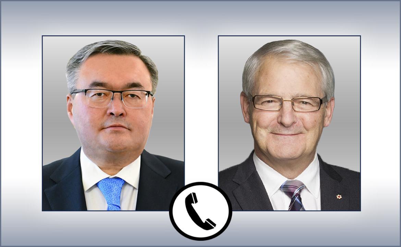 Главы МИД Казахстана и Канады обсудили пути взаимодействия с новой властью в Афганистане
